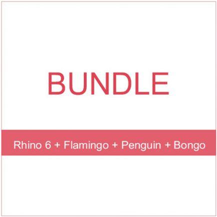 Bundle - Rhino 6 Flamingo Penguin Bongo 1
